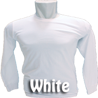 kaos combed long white