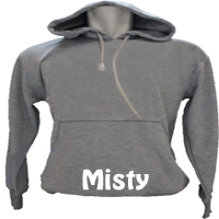 sweater hoodie misty small