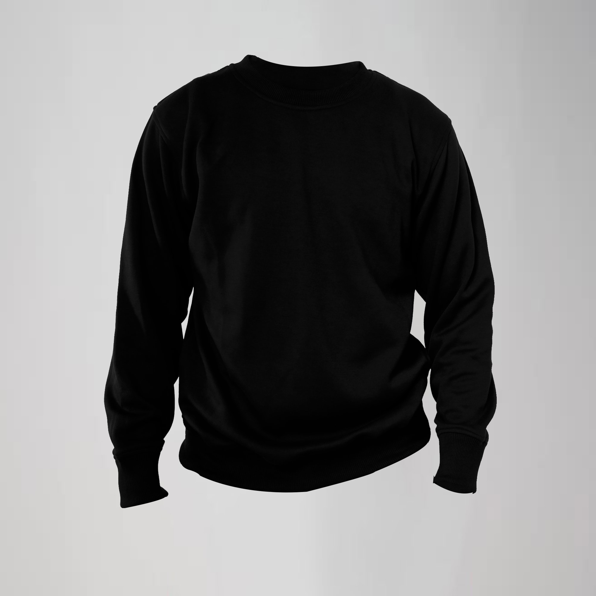 crewneck hitam small