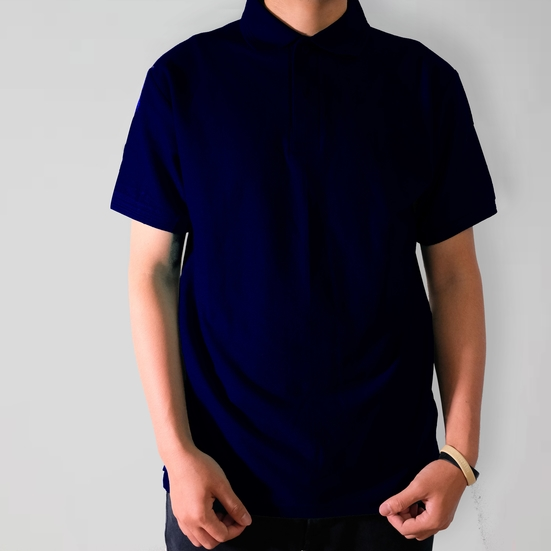 Polo Shirt Biru Navy